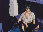 Chrollo after the battle with the Zoldycks