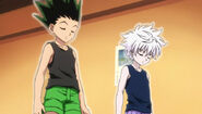 Gon and killua practicing Ten