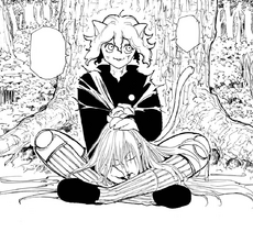 Chap 199 - Neferpitou holds Kite's head
