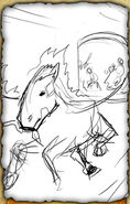 The Riderless Chariot (Rough Sketch)