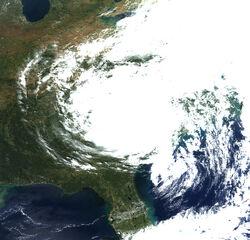 2008 Carolinas Storm Satellite