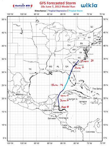 File:GFS Forecast 18z Jun 7 2012 Model Run.jpg
