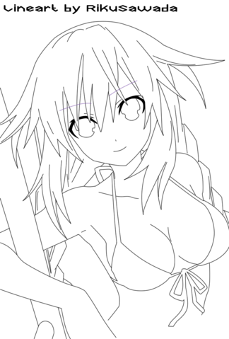 File:Neptune swimsuit lineart by rikusawada-d4xg7rf.png