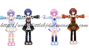 Mmd pururut wip all colors by littlebjd-d5ezxlj