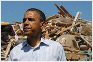 Obama Tornado Damage