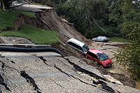 Hurricane Gaston landslide damage