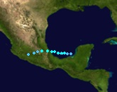 Tropical Storm Irma (2017 - Track)