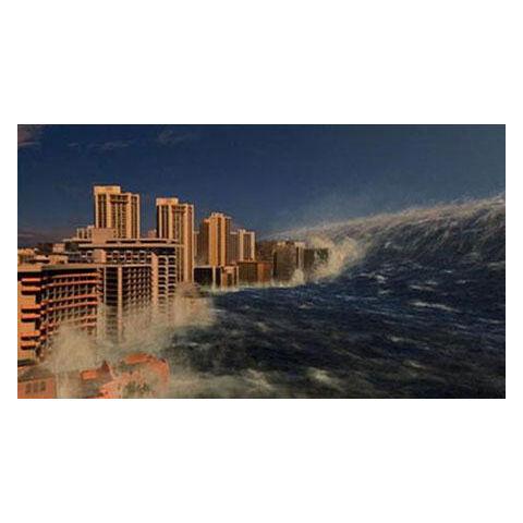 The Resulting Tsunami striking Miami, FL