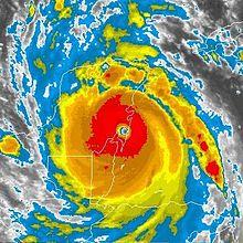 File:Hurricane Dean landfall AVN.jpg