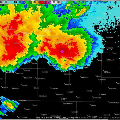 The supercell that spawned the F4