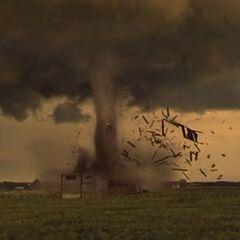 The Tornado causing EF2/EF3 Damage.