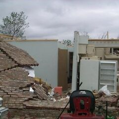 Some damage from the Dodge City EF4