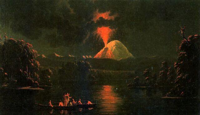 File:Mount St Helens erupting at night by Paul Kane.jpg