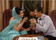 Princess Tarji and MAJ Nelson have a toast