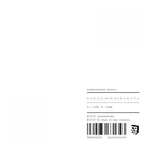File:iamamiwhoami; bounty CD (5060236631343).jpg