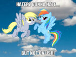 Rainbow dash and derpy forever by kingbjkoopa-d5mtezk