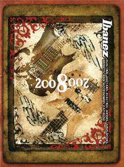 2008 EU elec guitar catalog front-cover