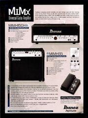 2008 Ibanez MIMX amp dealer sheet p1