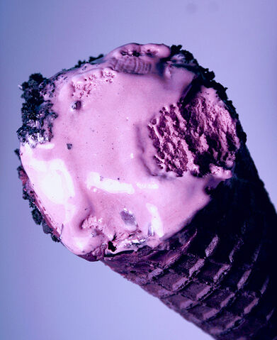 File:Colorful Black Raspberry Ice Cream Cone.jpg