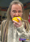 Mr.henning eating a pepper