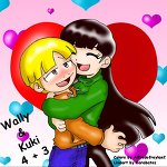 Wally and Kuki Hug Color by Garabatoz