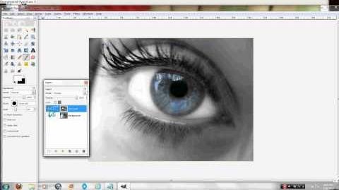 Full Eye Make up Using Gimp