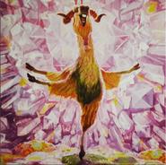 Ice Age Shangri Llama Painting