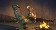 Sid's tail on fire
