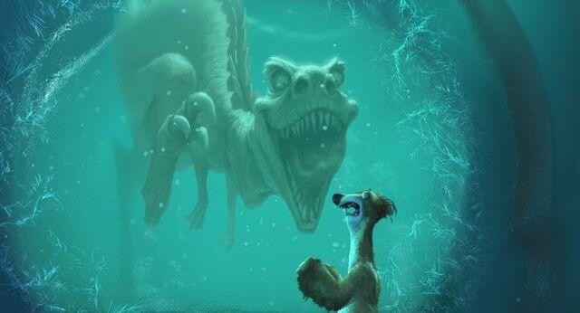 File:Ice age frozen allosaurus-1468939620.jpg