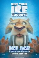 Ice Age Collision Course Diego Poster
