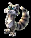 Baby gry raccoon