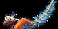 Orange Archaeopteryx