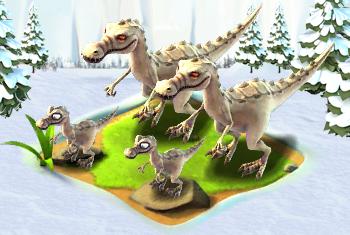 Giant Ice Age Dinosaur Cake