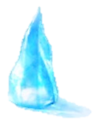 Larger ice shard