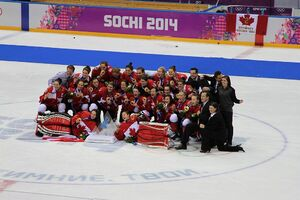 Women's tournament, 2014 Winter Olympics, Gold medal team Canada