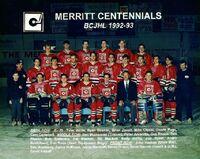 1992-93 Merritt Centennials