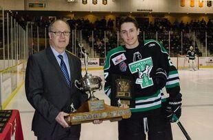 Nick Henry receives Vince Leah Memorial Trophy