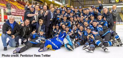 2017 BCHL champs Penticton Vees