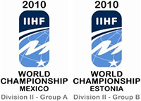 2010 IIHF World Championship Division II Logo