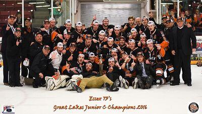 2016 GLJCHL champs Essex 73's