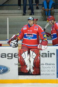 Jakub Kovář - Lausanne Hockey Club vs. HC České Budějovice, 27.08.2010