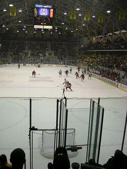 Michigan attempts an empty net goal