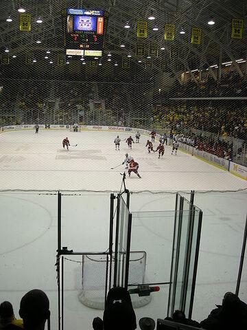 File:Michigan attempts an empty net goal.JPG