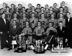 1958-59 Winnipeg Braves team photo
