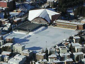 Luftbild Eisstadion Davos
