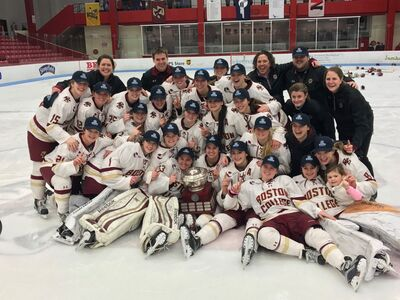 2017 Hockey East Women's champions Boston College Eagles