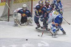 Ice Hockey goalkeeper Irbe of EC Red Bull Salzburg