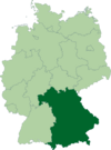 Deutschland Lage von Bayern