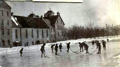 Hockey outside St. Bonaventure's College
