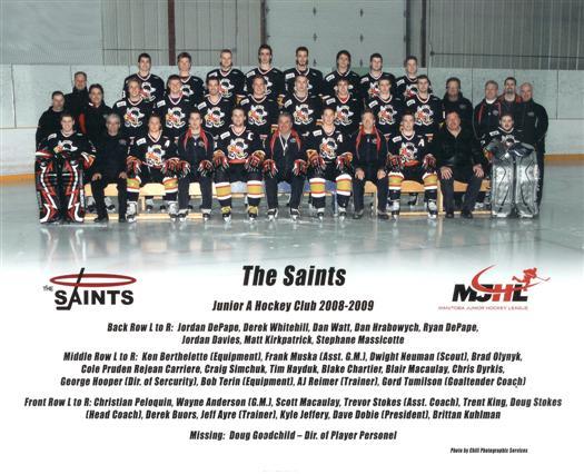 Winnipeg Saints 2008-09